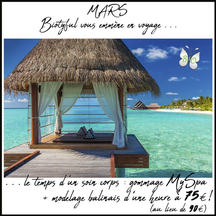 Un gommage MySpa + un modelage balinais d'1h pour 75€ au lieu de 90€ !